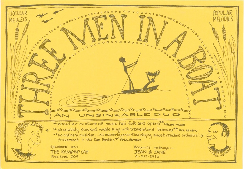 Three Men in a Boat flier scan